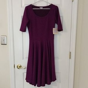 LuLaRoe Nicole dress M medium purple black NWT